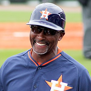 Gary Pettis - Pettis with the Houston Astros