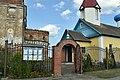 Gates to Saint Nicholas Prayer House in village of Lienina in Dobruš District.jpg