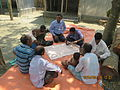 Gathering in a meeting of villagers in an Bangladeshi village 2015 35.jpg