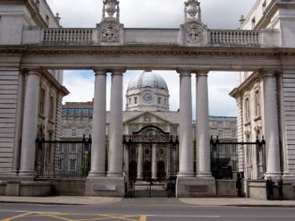 University College Dublin - Government Buildings, Dublin. The former location of the UCD science and engineering faculties. Opened by King George V in 1905
