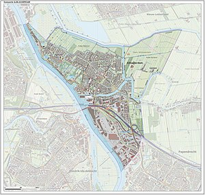 Alblasserdam - Topographic map of Alblasserdam, Sept. 2014