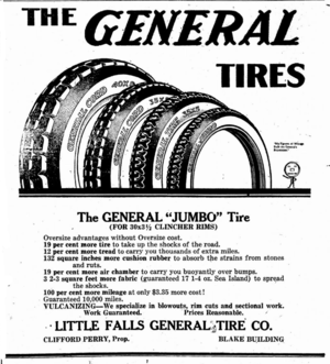 General Tire - Newspaper ad for General Tire from 1919.