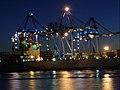 Genova Ports at Night - Blue.jpg