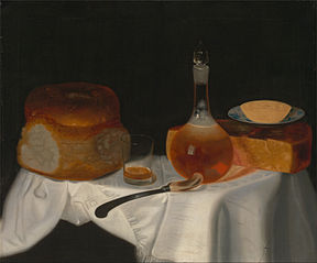 Still Life with Bread, Butter and Cheese