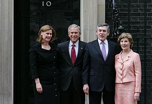 Gordon Brown - Gordon Brown and President of the United States George W. Bush meet at Downing Street