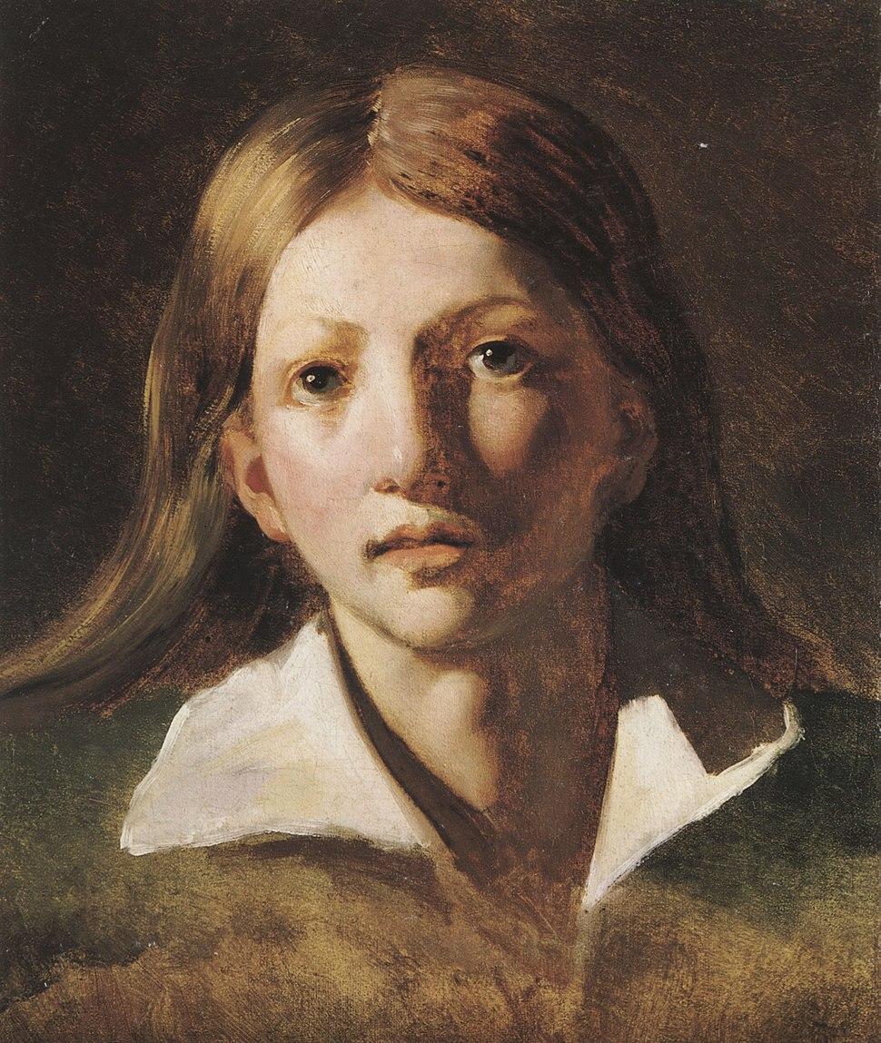 Gericault Theodore 1819-20 Portrait eines Jungen mit langem blonden Haar