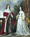 Gerrit van Honthorst - Portret van Friedrich Wilhelm I, keurvorst van Brandenburg (1620-1688) en zijn echtgenote Louise Henriette van Nassau (1627-1667).jpg
