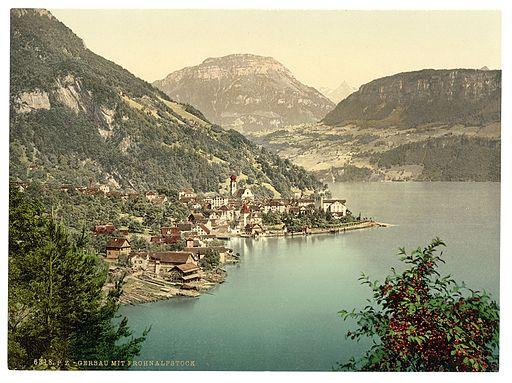 Gersau and Frohnalpstock, Lake Lucerne, Switzerland-LCCN2001703086
