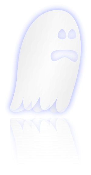 An image of a cartoonish ghost.