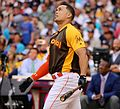 Giancarlo Stanton competes in semis of '16 T-Mobile -HRDerby. (28496634171).jpg