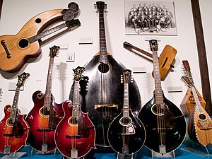 Mandolin orchestra - Instruments of the mandolin family, all built by Gibson.