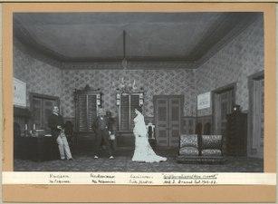 Giftermålsbalken rundt, Dramatiska teatern 1903. Föreställningsbild - SMV - H14 034.tif