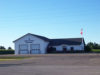 Gillett (town), Wisconsin - Town fire station along Wisconsin Highway 32