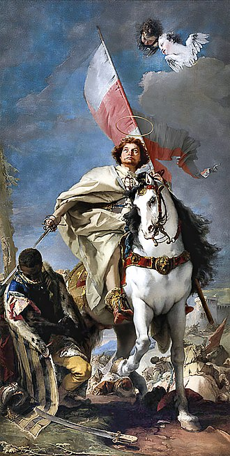 James, son of Zebedee - Saint James as the Moor-killer by Giovanni Battista Tiepolo (Museum of Fine Arts, Budapest). His mantle is that of his military order.