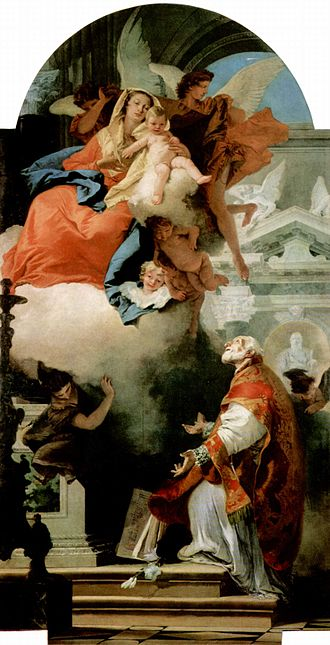 Philip Neri - St. Philip Neri and the Virgin Mary, by Tiepolo