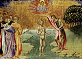 Giovanni di Paolo - The Baptism of Christ (Ashmolean Museum, Oxford, A333).jpg