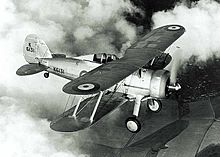 A Gloster Gladiator plane