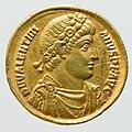 Gold Solidus of Valentinian II - obverse YORYM 1998 853.jpg