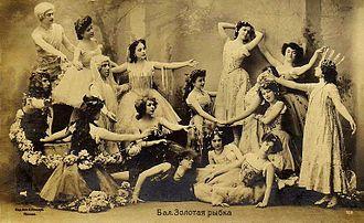 Ludwig Minkus - Soloists and corps de ballet in Alexander Gorsky's revival of the Minkus/Saint-Léon Le Poisson doré; Moscow, circa 1905