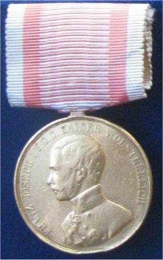Medal for Bravery (Austria-Hungary) - Image: Goldene Tapferkeitsmedaille 1859 66