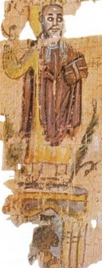 Pope Theophilus of Alexandria - Theophilus atop the Serapeum, depiction from the Alexandrian World Chronicle