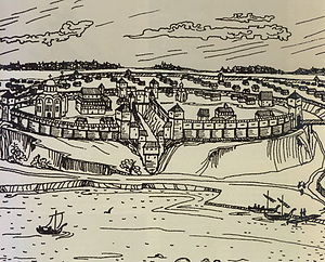 Gomel inner fortress in the 12th century