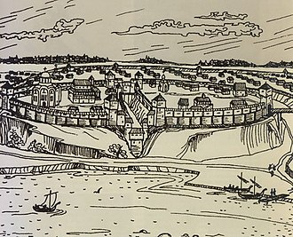 Gomel -  Gomel's inner fortress in the 12th century
