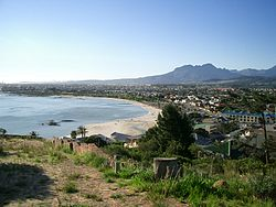 Gordons Bay beach from Suikerbossie Road