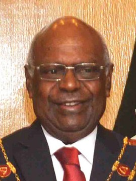 Governor General of Papua New Guinea, Sir Michael Ogio (cropped, 3x4).jpg