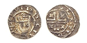 William I, Count of Holland - Holland, penny struck by William I as Count of Holland between 1213-1222.