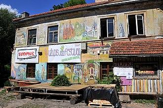 Užupis - Graffiti on one of the Užupis buildings