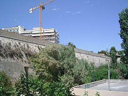 Μέρος της οχύρωσης του Ηρακλείου όπως σώζεται σήμερα.