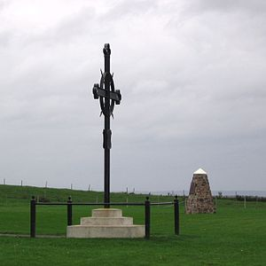 Bay of Fundy Campaign (1755) - Acadian Memorial Cross, at Hortonville, Nova Scotia, marking the deportation site of the Grand Pré inhabitants