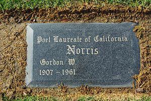 Inglewood Park Cemetery - Grave marker for Gordon W. Norris