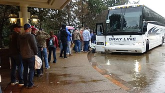 Gray Line Worldwide - People boarding a Gray Line bus in Nashville, Tennessee.