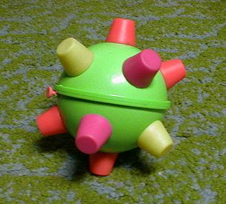 Bumble Ball - A green Bumble Ball on carpet