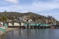 Green pier on Santa Catalina Island, a rocky island off the coast of California LCCN2013634838.tif
