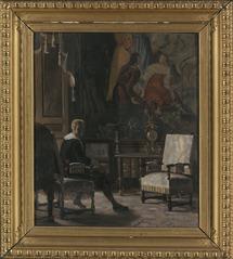 Gripsholms slott, interiör från Kungens sängkammare
