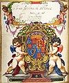 Großes Stammbuch Hainhofers Eintrag Elisabeth Stuart Kurfürstin von der Pfalz.jpg