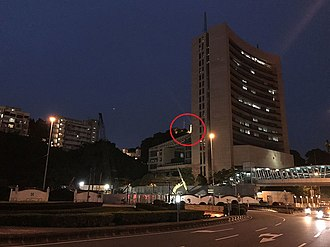 Macau Liaison Office - The view of Guia Fortress (center of the picture) is blocked by the headquarter.