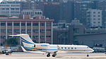 Gulfstream V N328MM Taxiing at Taipei Songshan Airport 20150913d.jpg