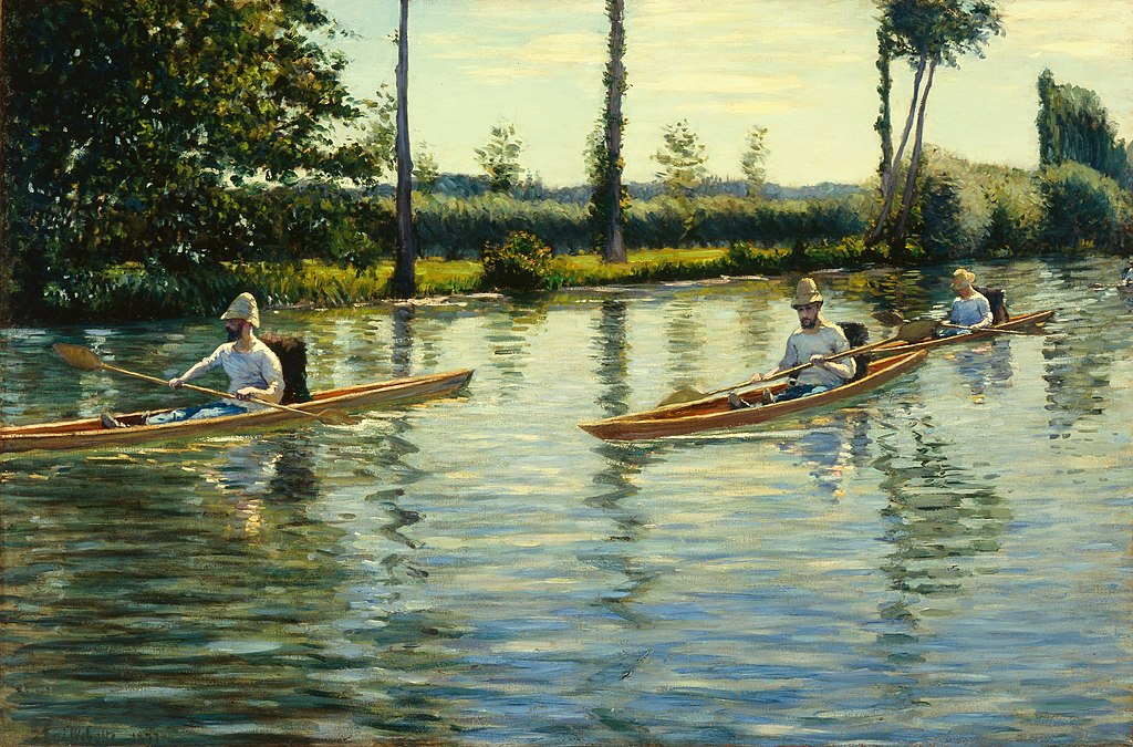 Gustave Caillebotte Boating on the Yerres