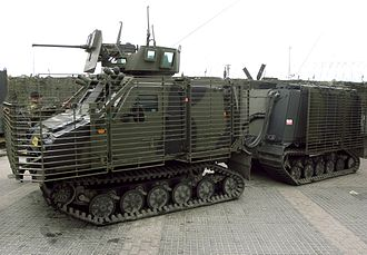 BvS 10 - VIKING Armoured Vehicle of the Netherlands Marine Corps during a demonstration.
