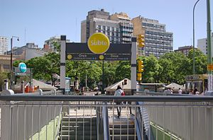 Once railway station - H line subway entrance.