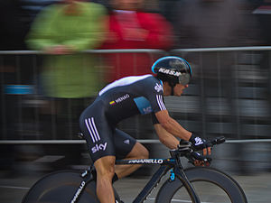 Sergio Henao - Henao in the opening time trial of the 2012 Giro d'Italia