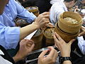 HK Sai Ying Pun Lin Heung Kui restaurant dim sum help your self hands Aug-2012.JPG