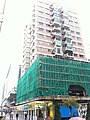 HK TST East 加連威老廣場 Granville Square 希爾頓大廈 Hilton Towers facade construction site Nov-2012.JPG
