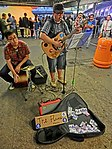 HK TST Star Ferry Piers street music The Flame Live evening May 2013.JPG