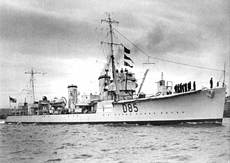 S-class destroyer (1917) - Shikari, 1929, showing her configuration as a Control Ship for radio-controlled targets