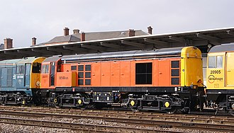 British Rail Class 20 - Class 20/3 No.20 311 of HNRC at Derby in 2014